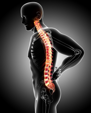 muscle tension: Male back pain