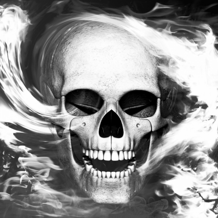 skeleton is in smoke Stock Photo - 15123246