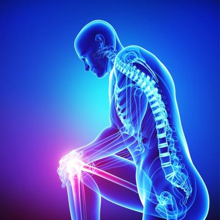 articulaciones: dolor de cuello masculino en azul