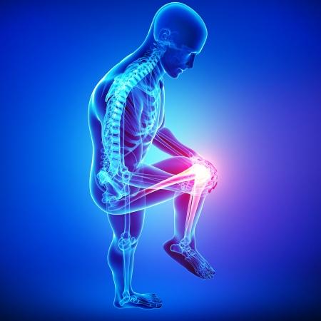 male knee pain Banque d'images