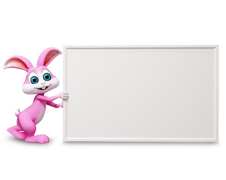 bunny with white sign photo