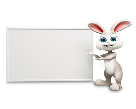 bunny showing white sign photo