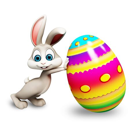 bunny with egg photo