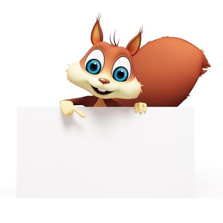 Eichhörnchen mit Zeichen Standard-Bild - 18887035