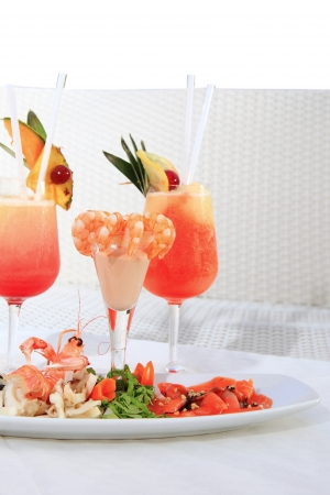 aperitif with shrimp photo