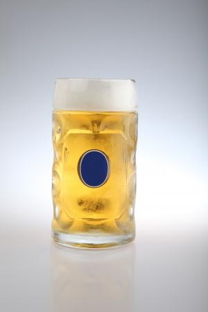 Mug fresh beer isolated over a white background Stock Photo