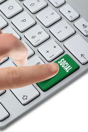 keyboard button chaise Stock Photo - 27955422