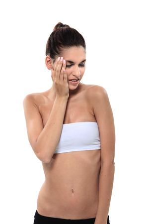 pang: girl pain gesture