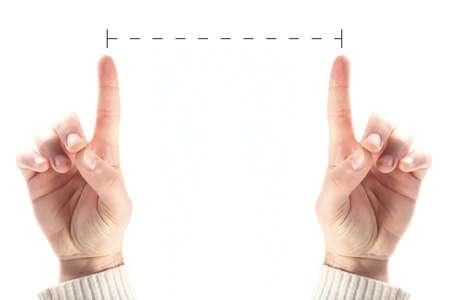 measuring hands