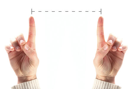 fingers measures Stock Photo