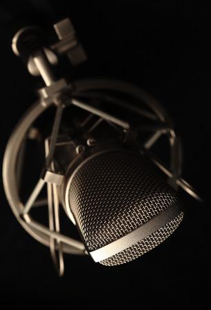 professional radio microphone  Stock Photo