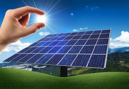 sun energy in a hand