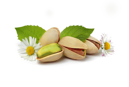 pistachios with flowers still life
