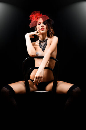 burlesque sexy Lady photo
