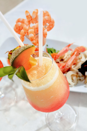 cocktail and seafood Stock Photo