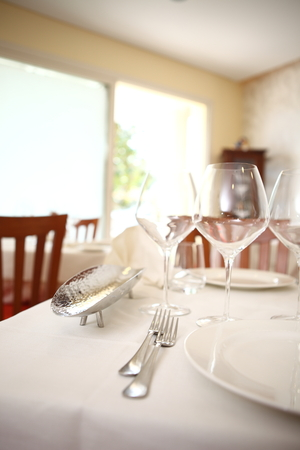 a table set photo