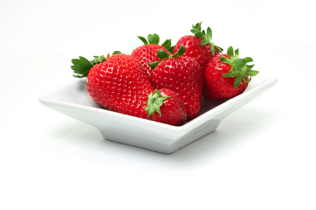 strawberry plate Stock Photo