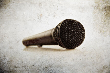 microphone on grunge textures and backgrounds