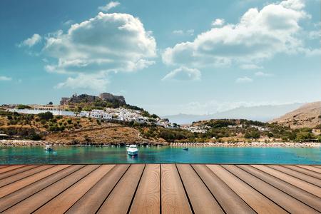 lindos island landscape