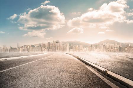 city road landscape