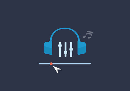Set of flat illustration design music concept Vector