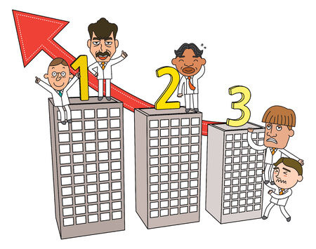 Funny line character illustration Business Story series 向量圖像