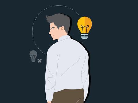 Hombre de negocios inteligente