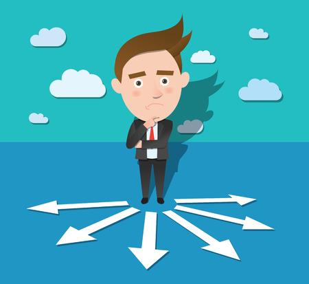 konflikt: Zabawna postać płaska koncepcja konfliktu biznesu Ilustracja
