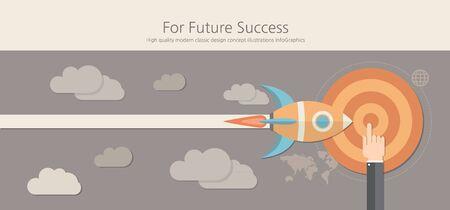 success concept: Modern and classic design for future success concept.