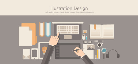 jobsite: Modern and classic design illustration designer concept. Illustration