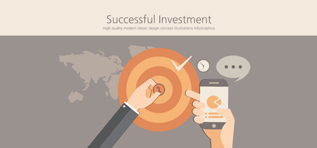 investment concept: Modern and classic design successful investment concept.