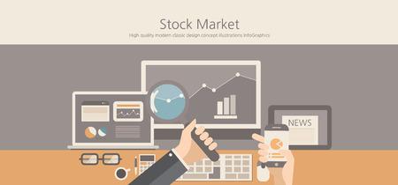 marketing icon: Modern and classic design stock market concept.