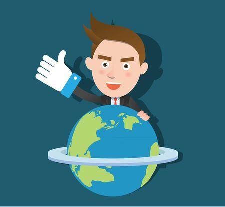 globális üzleti: Vicces sík jellegét okos globális üzleti koncepció