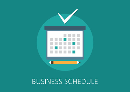business schedule concept flat icon
