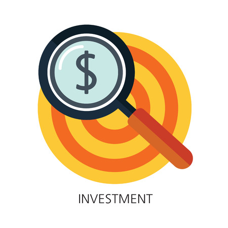 budget: Investment flat icon concept