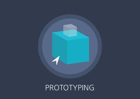prototyping: prototyping concept flat icon Illustration