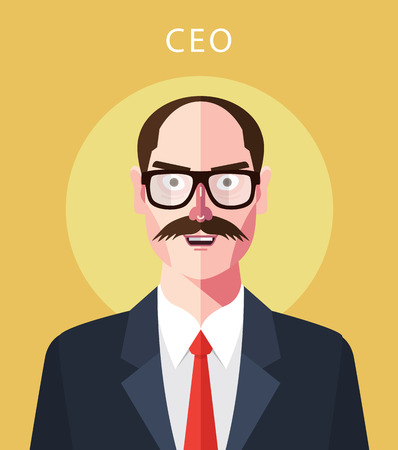 ceo: Flat character of ceo concept illustrations