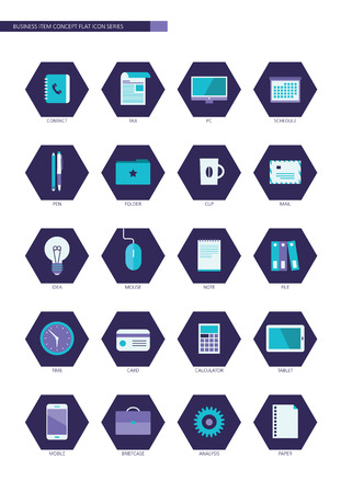 Business item flat design icon