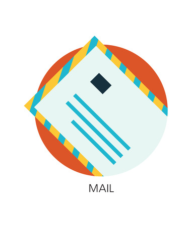 contact mail flat icon Illustration