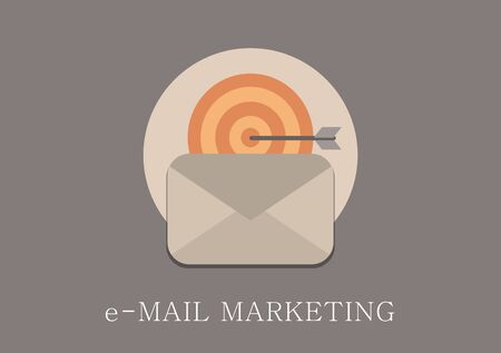 advertising sign: Modern and classic design email marketing concept flat icon