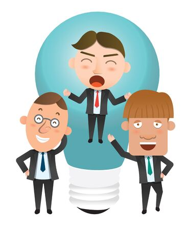 flat character: Business corporation idea concept flat character Illustration