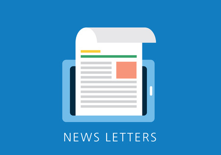 tabloid: news letters concept flat icon
