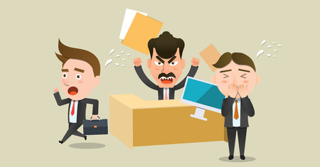 scold: Business corporation Scolding concept flat character