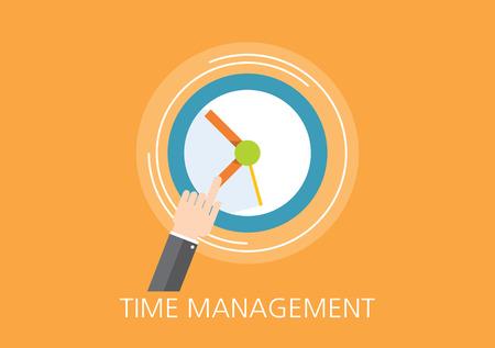 time management concept flat icon