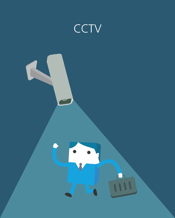 invasion: Flat Business character Series. cctv concept Illustration