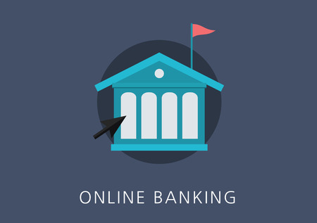 online banking concept flat icon Çizim