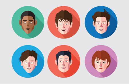 maketing: set of expression avatar flat icons