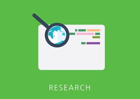 onderzoek: research concept flat icon
