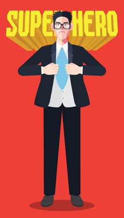 la union hace la fuerza: Car�cter plano del concepto ilustraciones empresario h�roe Vectores