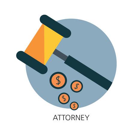 prosecutor: Avvocato icona piatta concetto